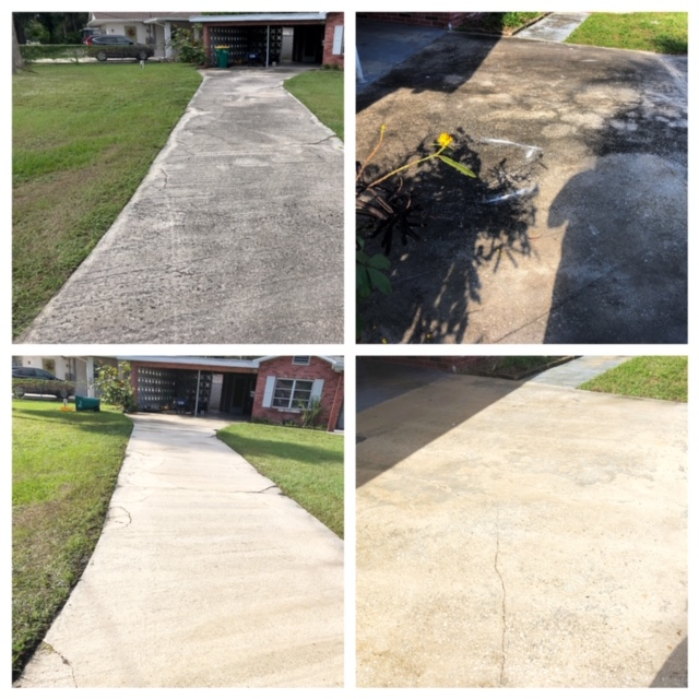 residential driveway pressure washing company