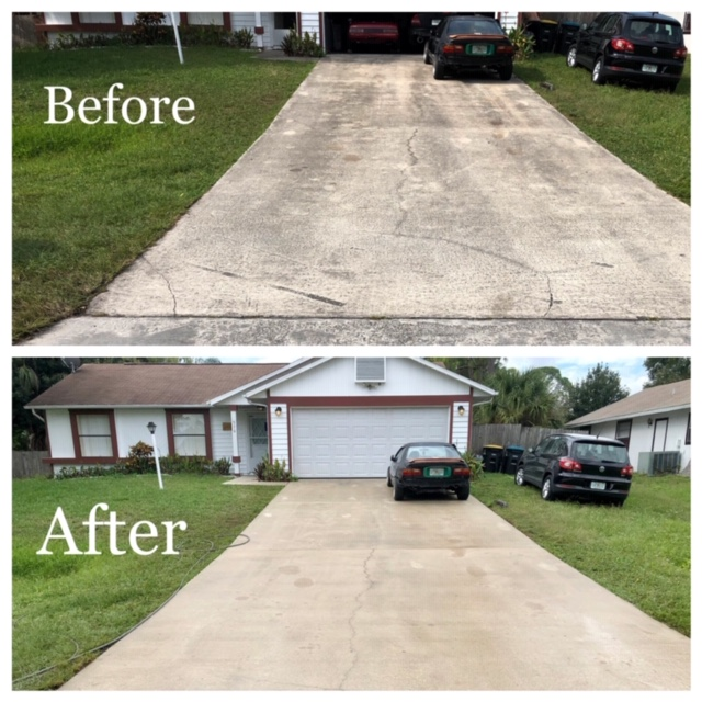 driveway pressure washing company in Melbourne