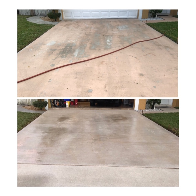 driveway pressure cleaning services in Palm Bay Florida