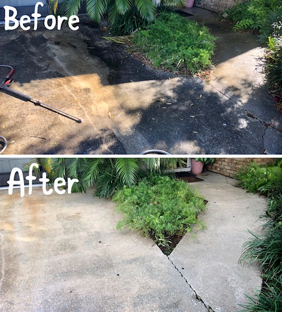 top rated driveway pressure washing